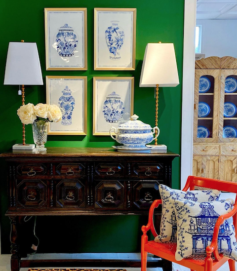 Antiques, chinoiserie, and artwork at Acquisitions Ltd in Raleigh, NC