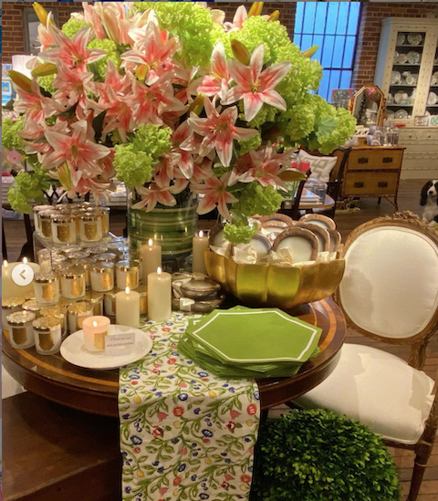 Florals, candles, and antiques at Acquisitions Ltd in Raleigh, NC